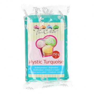 Fondant turquesa Mystic Turquoise Funcakes 250 gr