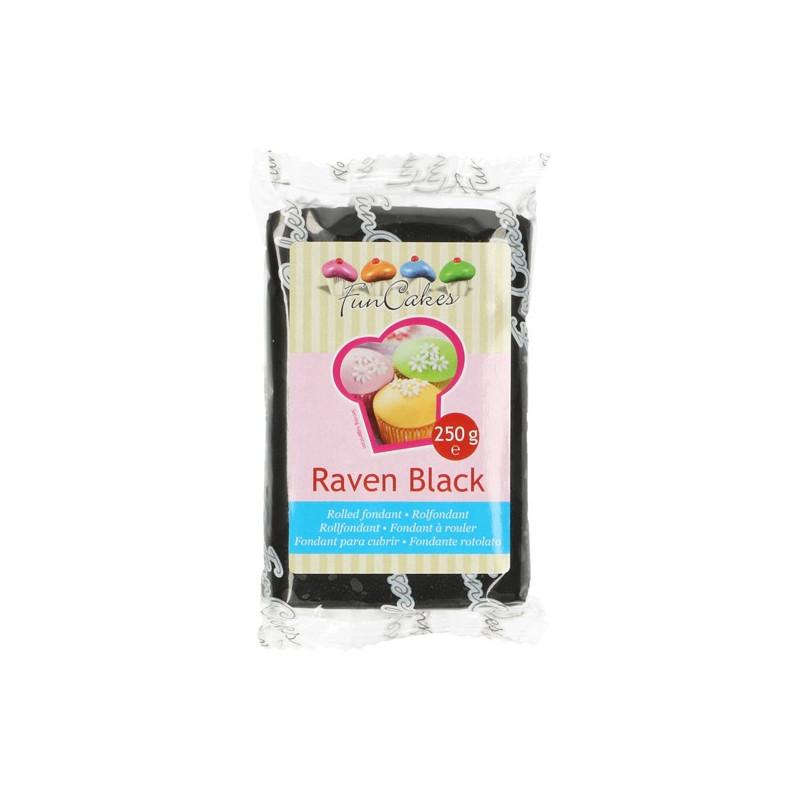 Fondant Negro Raven Black Funcakes 250gr