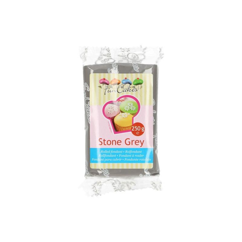 Fondant Gris Stone Grey Funcakes 250 gramos