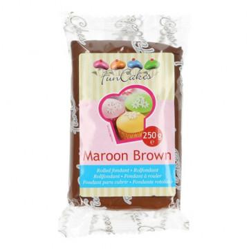 Fondant Marrón Maroon Brown Funcakes 250gr
