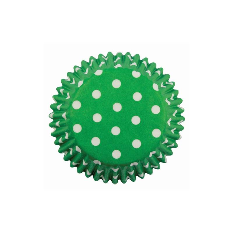 Capsulas verdes con lunares blancos Pme
