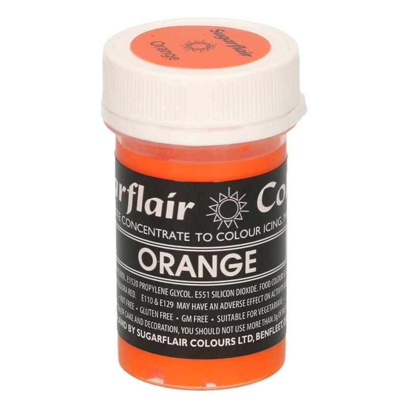 Colorante en pasta Gama Pastel Naranja Orange Sugarflair