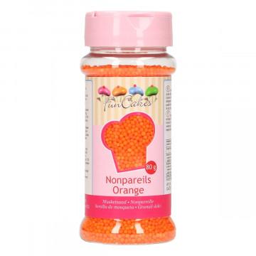 Sprinkles Nonpareils Naranja Mini perlitas Funcakes