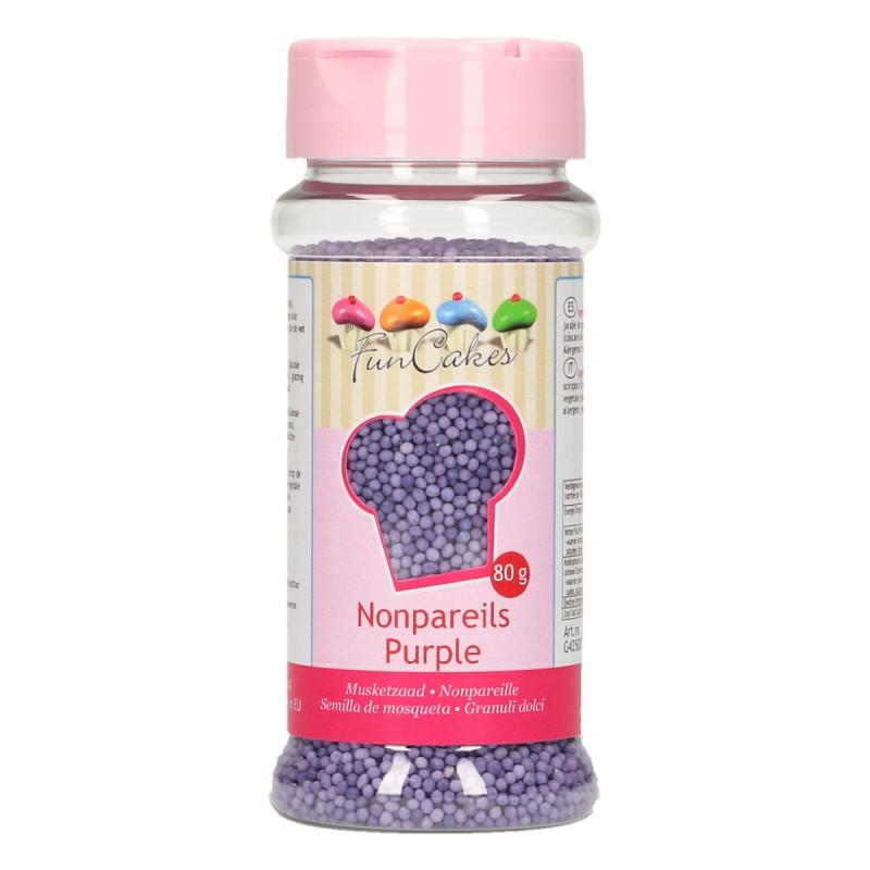 Sprinkles Nonpareils Violeta Mini perlitas Funcakes