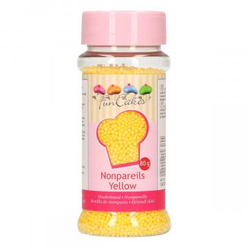 Sprinkles Nonpareils Amarillo Mini perlitas Funcakes