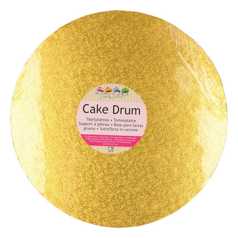 Bandeja presentación redonda Oro 25 cm Funcakes