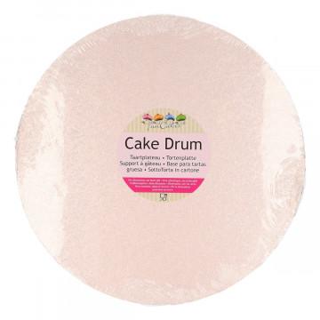 Bandeja presentación redonda Rosa Pastel 25 cm Funcakes