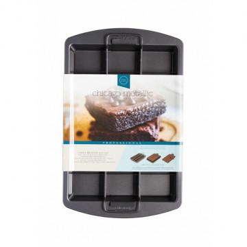Molde rectangular con base desmoldable y separador Chicago Metallic Kitchen Craft