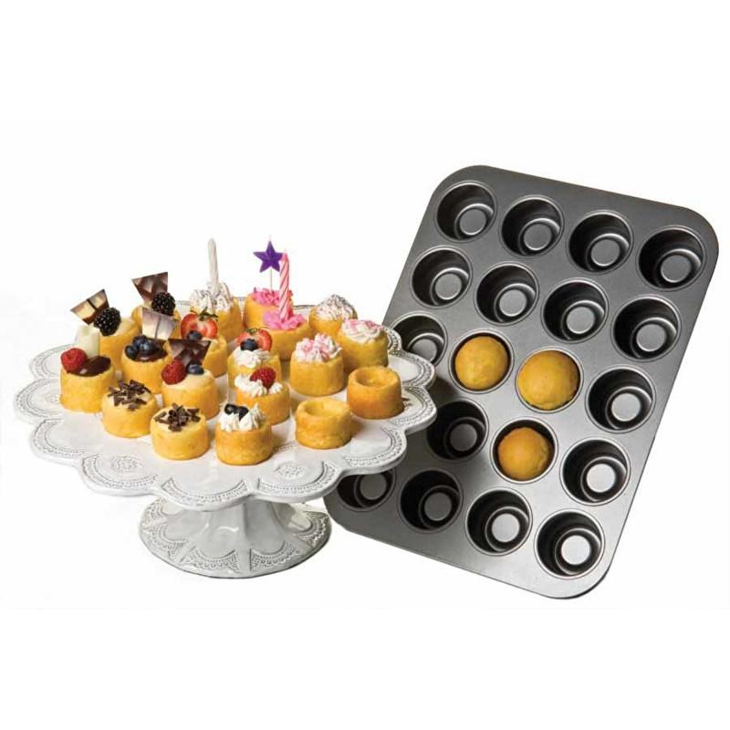 Molde de 20 cavidades de pastelitos con relleno Chicago Metallic Kitchen Craft
