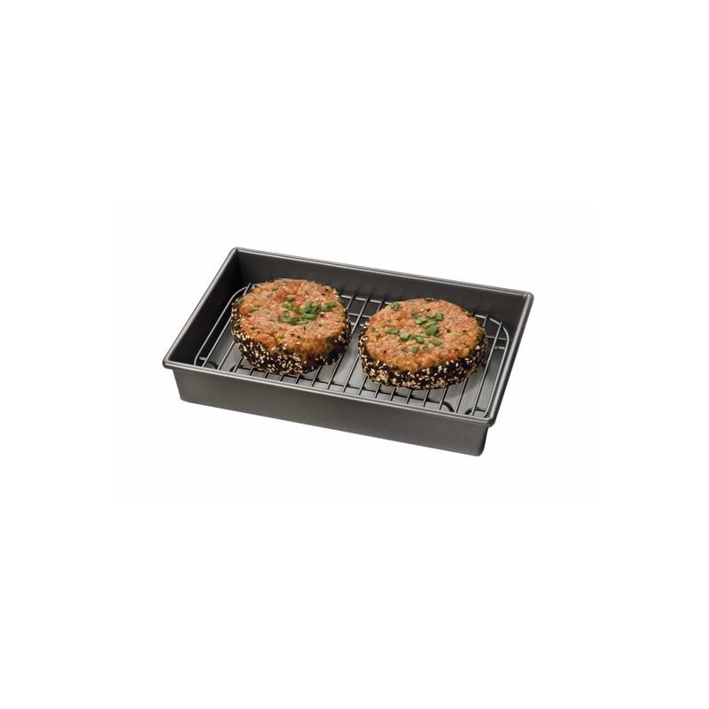 Molde rectangular con rejilla de 24 x 17 cm Chicago Metallic Kitchen Craft