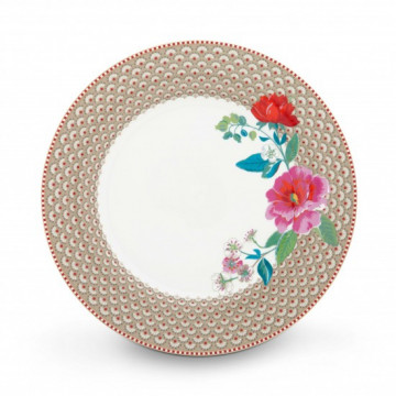 Plato de cerámica de 26 cm Rose Khaki Pip Stdio