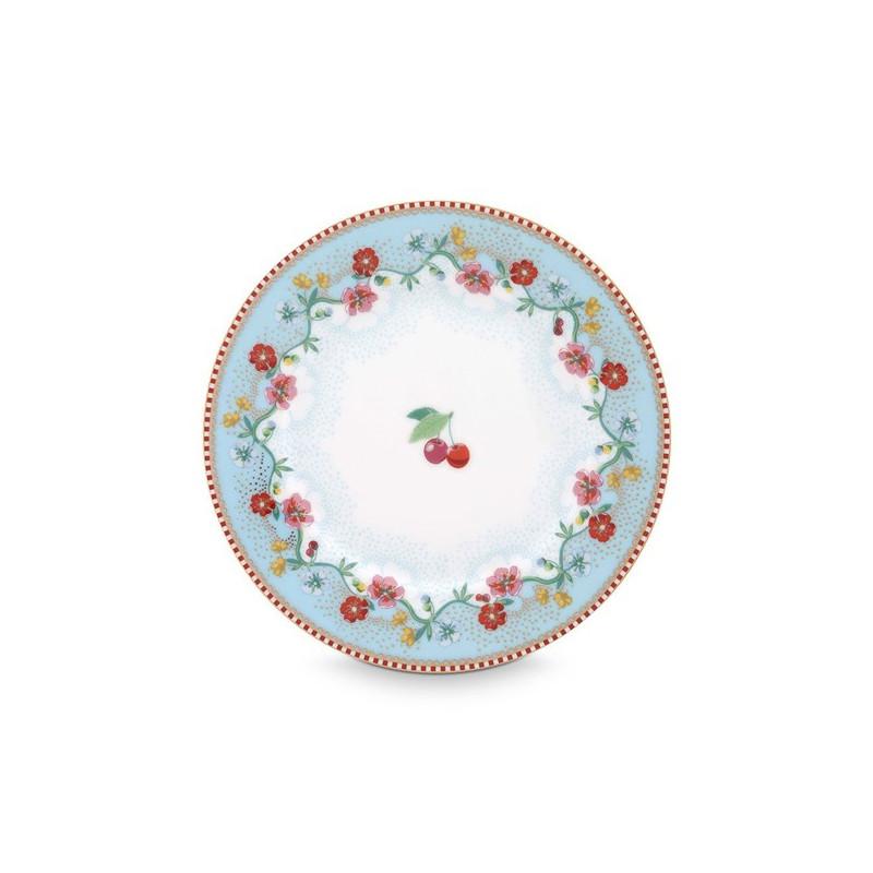 Plato de cerámica de 17 cm Cherry Blue Pip Stdio