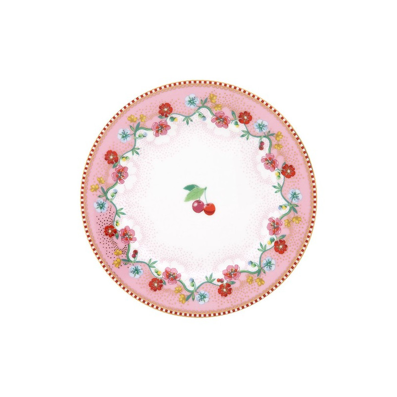 Plato de cerámica de 17 cm Cherry Pink Pip Stdio