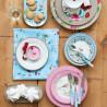 Bandeja ovalada de 33 cm Hummingbirds Pink Pip Studio
