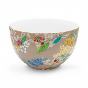 Ensaladera de cerámica 23 cm Hummingbirds Kakhi Pip Studio