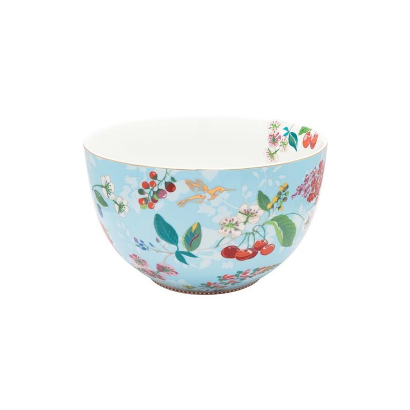 Ensaladera de cerámica 23 cm Hummingbirds Blue Pip Studio