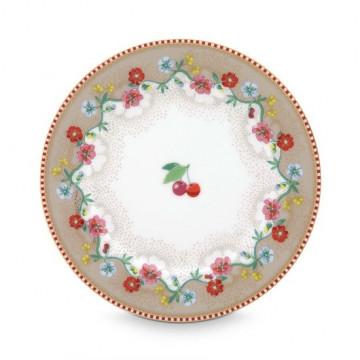 Plato de cerámica de 17 cm Cherry Kakhi Pip Stdio