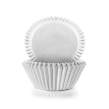 Capsulas de cupcakes grandes Blancas Básicas