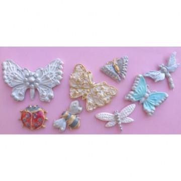 Molde silicona Mariposas y Bichitos Karen Davies