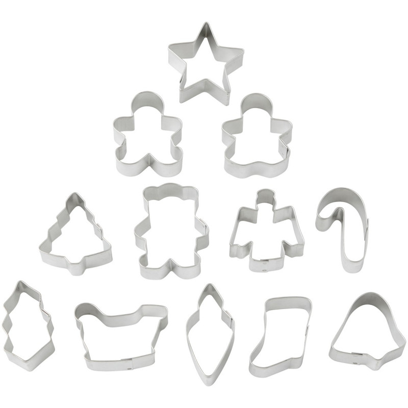 Pack de 12 cortantes mini Motivos Navidad Wilton