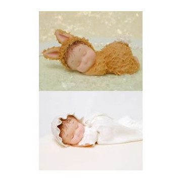 Molde silicona Bebe con almohada Karen Davies