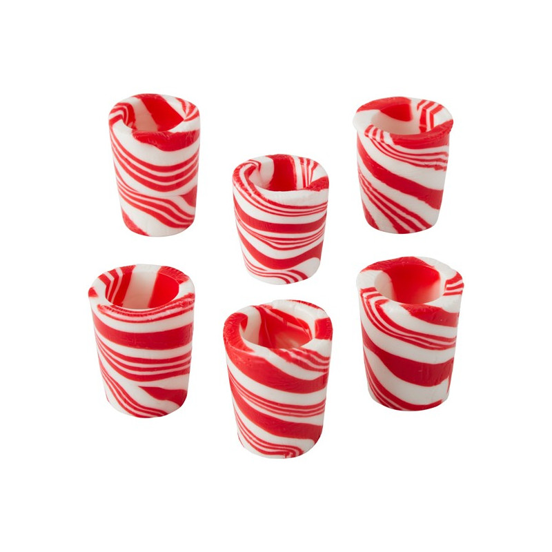 Pack de 6 vasitos de Caramelo de Menta Navidad Wilton