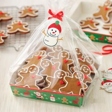 Pack de 4 bolsas + bandeja Muñeco de Nieve Navidad Wilton