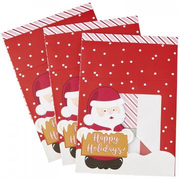 Pack de 3 cajas cuadradas Santa Claus Navidad Wilton