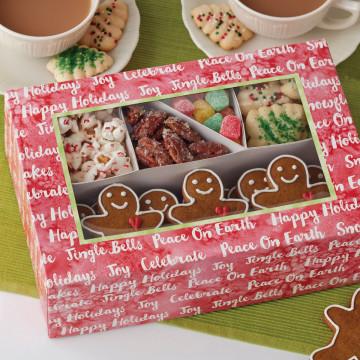 Pack de 2 cajas con separadores Happy Holidays Navidad Wilton