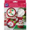 Set para cupcakes: Santa Claus Navidad Wilton