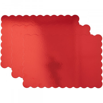 Pack de 3 bandejas rectangulares Rojo Wilton