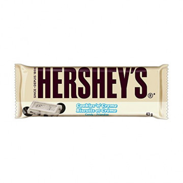 Chocolatina de Cookies and Cream Hershey