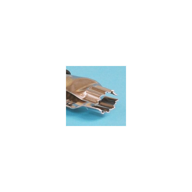 Crimper forma Hoja dentada  Pack 2: 1,25 y 1,85cm