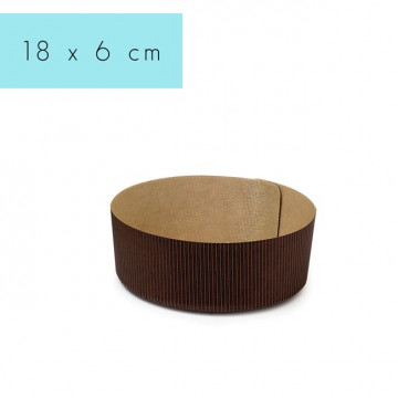 Molde de papel redondo 18 cm Decora Italia