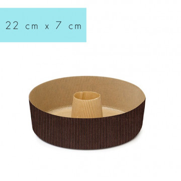 Molde de papel redondo Savarin Bundt Cake 22 cm Decora Italia