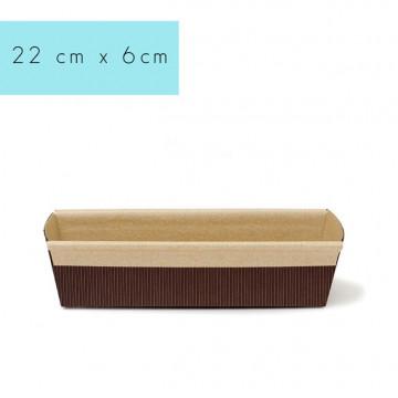 Molde de papel rectangular Plum Cake 22 cm Decora Italia