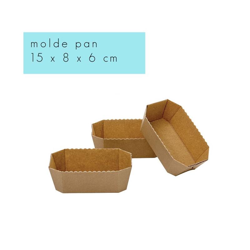 Molde de papel rectangular para Pan 15 cm Decora Italia