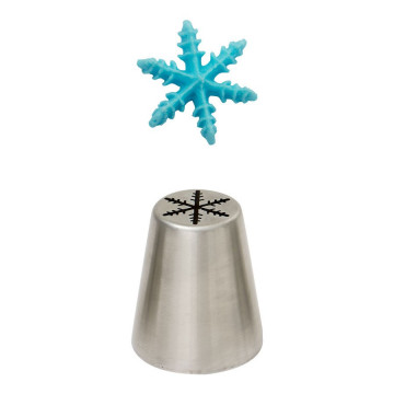 Boquilla rusa mediana Copo de Nieve Estrella 3D Decora Italia