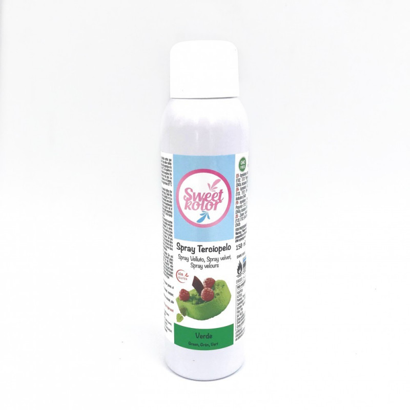 Spray efecto terciopelo Verde 150 ml Sweet Kolor