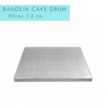 Bandeja de presentación plata 30 x 1.2 cm cuadrada