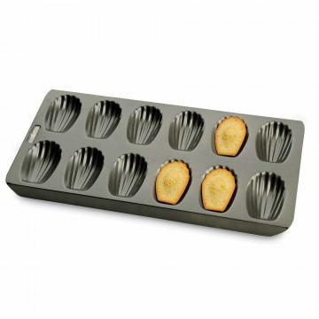 Molde 12 cavidades Magdalenas Conchas Madeleine Chicago Metalllic Kitchen Craft
