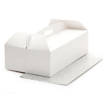 Caja de tarta rectangular + bandeja 31 x 16 cm Decora Italia