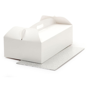 Caja de tarta rectangular + bandeja 36 x 21 cm Decora Italia