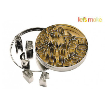Cortante Letras Alfabeto Metalicas Kitchen Craft