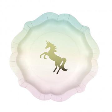 Plato de fiesta Unicornio