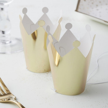 Gorro de fiesta Corona Oro