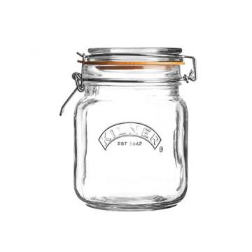 Tarro de cristal hermético 1L cuadrado Kilner