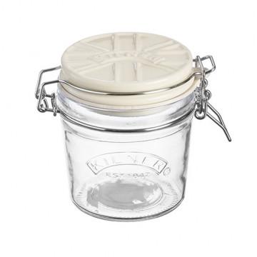 Tarro de cristal hermético 350ml con tapa de cerámica Crema Kilner