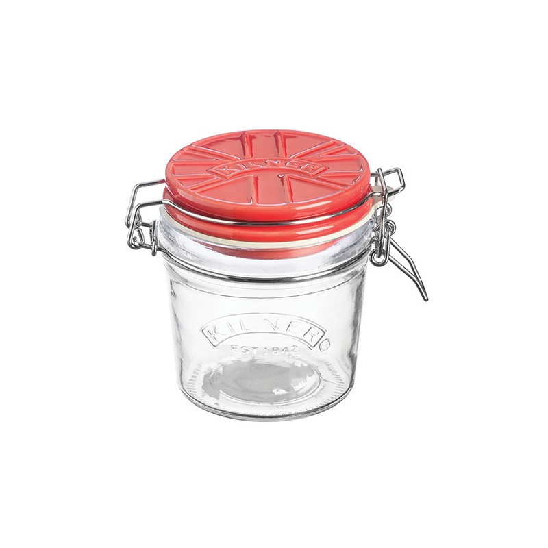 Tarro de cristal hermético 350ml con tapa de cerámica Rojo Kilner