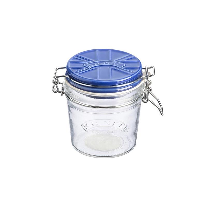 Tarro de cristal hermético 350ml con tapa de cerámica Azul Kilner